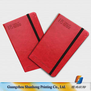 High quality cheap price hardcover note book ,PU leather cover with elastic ribbon
