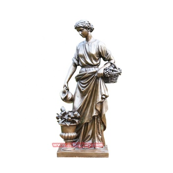 Best Sale Garden Home Decor Bronze Greek Goddess Flora Statue