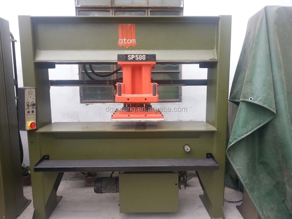 atom shoe machine clicking swing arm cutting press machine. Black Bedroom Furniture Sets. Home Design Ideas