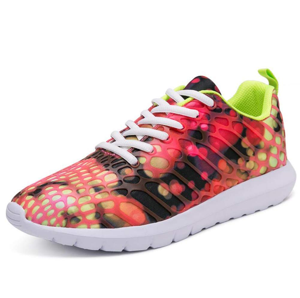 Unisex Shoes Sneaker Breathable Casual Trainers Damping Athletic Shoes Lightweight Mesh Trainers Shoes,Purple, Black, Water Blue, Orange red Green