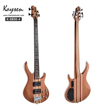 Factory price 4 string 24 fret connected body electric bass guitar