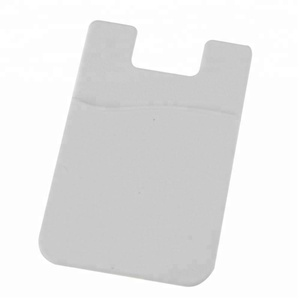 Cell Phone Credit Card Holder,Silicone Id Card Holder Sticker Pouch For Mobile Phone