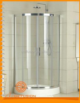 Double Wheels Round Corner Shower Stall Units - Buy Round Corner ...