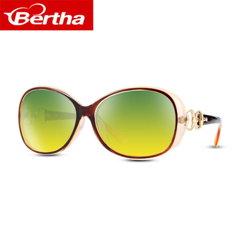 Bertha  Polarized   For Day and Night Driving Sunglasses Women Oversized Butterfly Shape Sun Glasses sunglasses