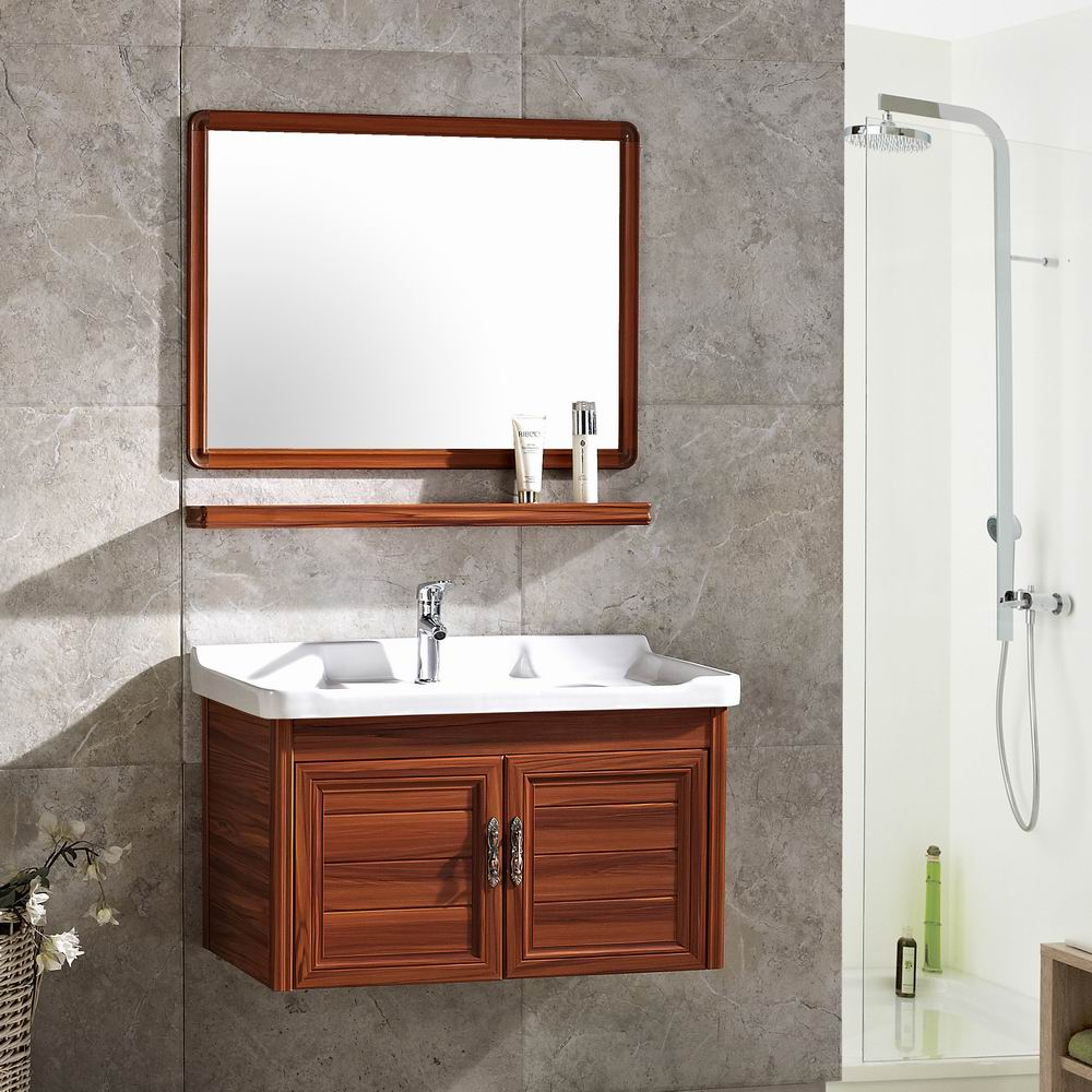 Modern Design Bathroom Cabinet Vanity With Counter Top Wash Basin Mirror Cabinet Aluminum Bathroom Cabinet With Single Sink Buy Bathroom Cabinet