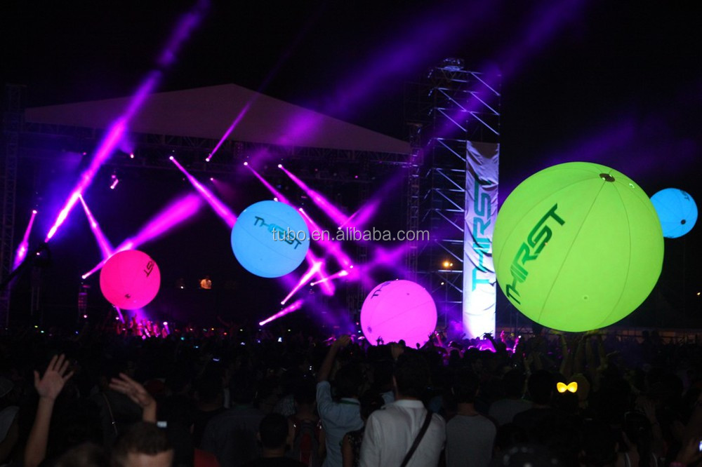 Advertising Balloon For Concert,Led Light Inflatable Crowded ...