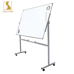 Double-Sided Magnetic Mobile Whiteboard, Aluminium Frame and Stand