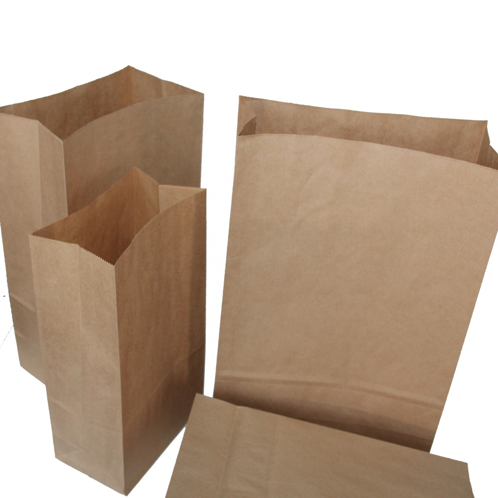 Factory Sale Direct Personalized Plain Brown and White Paper Bag Grocery Bags