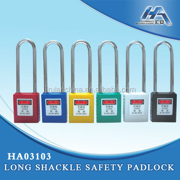 Long Shackle Safety Lock Master Key Safety Padlock Combination Padlock with Master Key