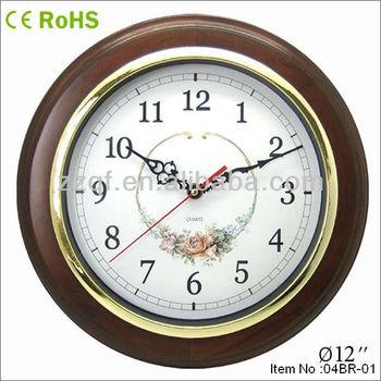 Round Shape Ajanta Wooden Wall Clock Buy Ajanta Wall Clock