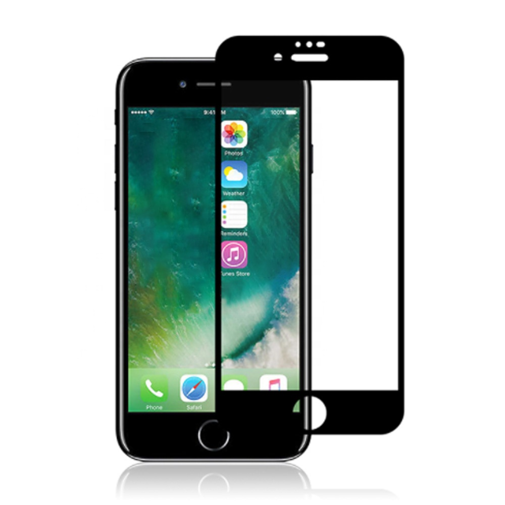 Custom Size 9H 3D Mobile Phone Toughened Film Thin Tempered Glass Screen Protector For Iphone 6