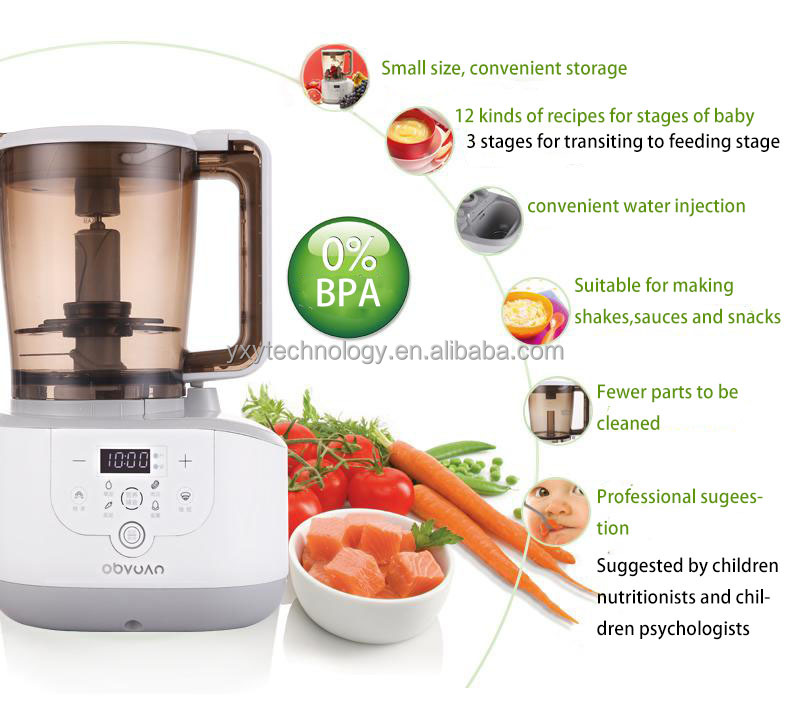 Hot sale!!2017 multi functional full intelligent baby food processor