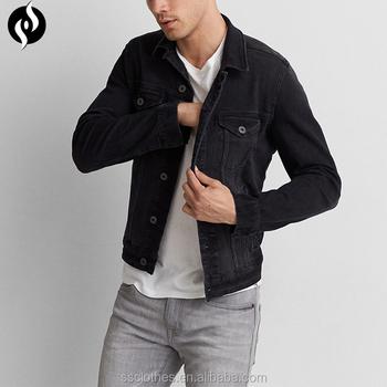 2018 New Fashion Autumn Winter Long Sleeve Black Cotton Mens Jean Jacket Denim Jacket Buy Denim Jacket Jean Jacket Denim Jean Jacket Mens Product On