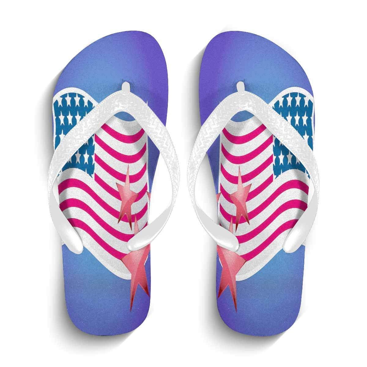89e86441e38a3 Get Quotations · Men Thong Sandal Slippers with American Flag Shower Gym  Pool Beach Flip Flops