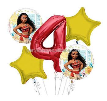 Moana 4th Birthday Balloons Decoration
