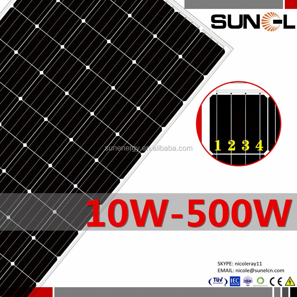 price solar panels 500w with high short circuit current Isc