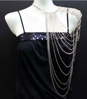 Godbead Body Chains, Metal, Bold, statement, Urban Glam in/with Silver Rhodium