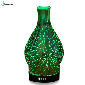 superior quality ultrasonic 3D glass natural aroma electric aroma diffuser fragrance lamp