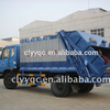 Dongfeng 4*2 waste container truck garbage compactor truck