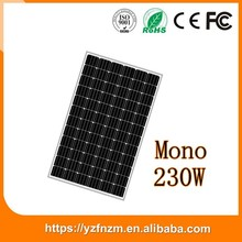 china manufacturer 230w mono solar power panel, solar panel, pv module