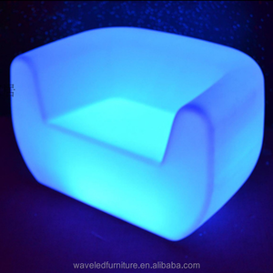 Waterproof illuminated furniture led sofa lounge with 16 colors