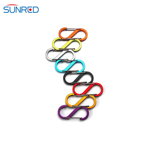 Colorful S Type Buckle S-Biner Double Gated Carabiner Key Ring Clip Hook Outdoor