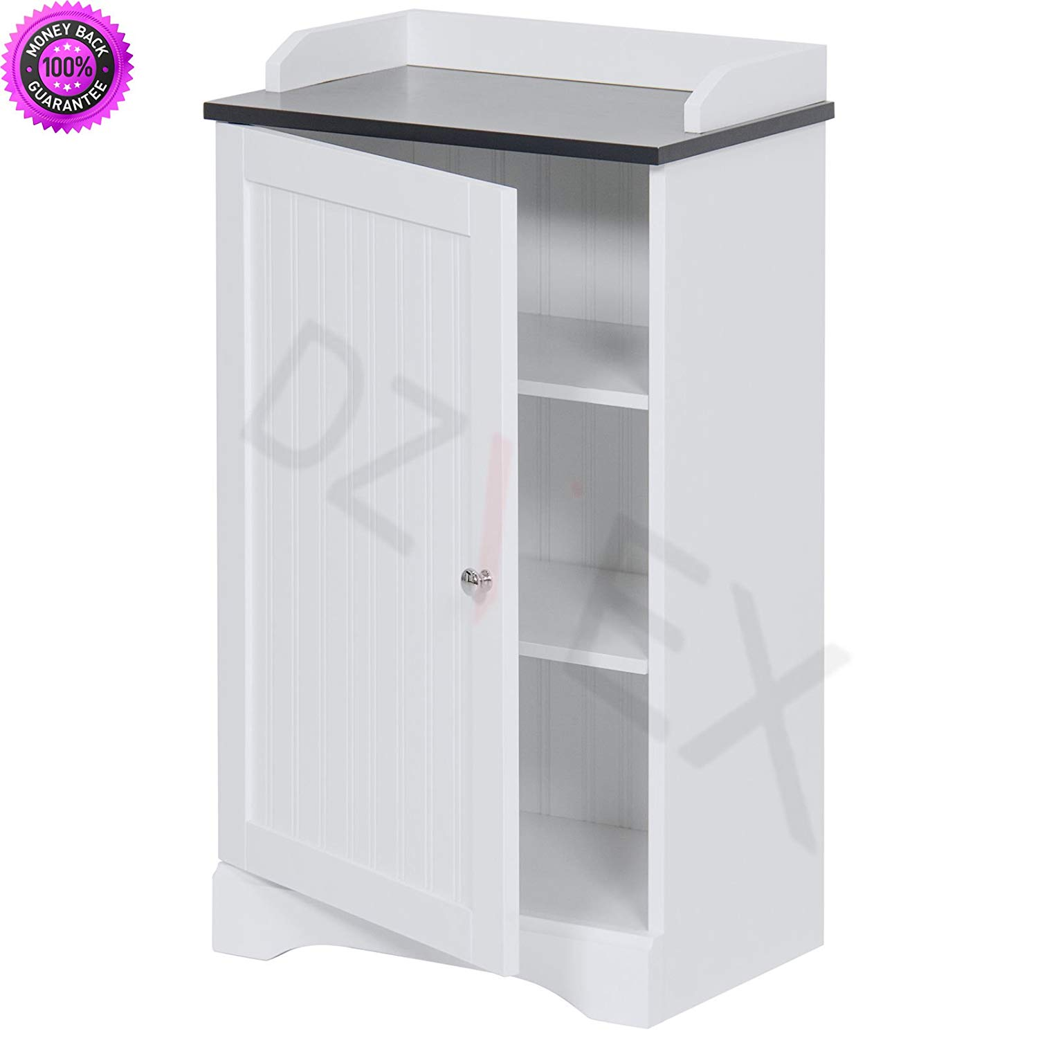 DzVeX Bathroom Floor Storage Cabinet w/Versatile Door (White) And luxury bath accessories bathroom accessories amazon contemporary bathroom accessories designer bathroom accessories bathroom