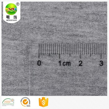 Wholesale rayon grey melange color stretch terry cloth fabric