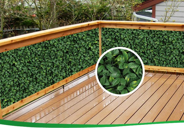 Plastic decoratieve indoor klimop verticale tuin balkon scherm