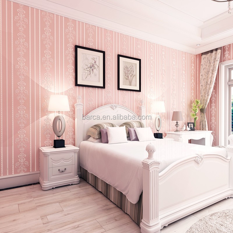 Pink Wallpaper Bedroom Wallpaper Deco Room Best Price - Buy Strips Pink  Wallpaper,Pink Wallpaper Bedroom Deco Home,Non Woven 3d Wall Paper Product  on ...