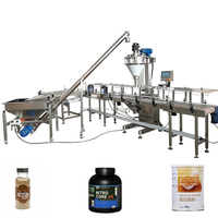 powder bottle filling capping and labeling machine