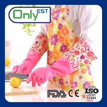 High quality colorful PVC long arm household glove with ce certificate