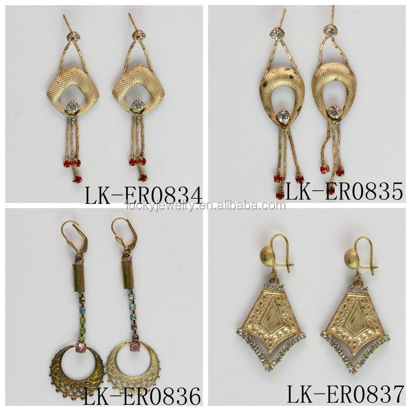 Fashionable Jewellery Korean Earrings Hanging Tanishq Rhinestone ...