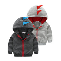Latest fashion dinosaurs design clothes baby boys zipper clothing wholesale price hoodie