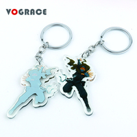 2019 top quality cute Vograce two sided printed personalized custom shaped cartoon transparent clear gift acrylic keychain