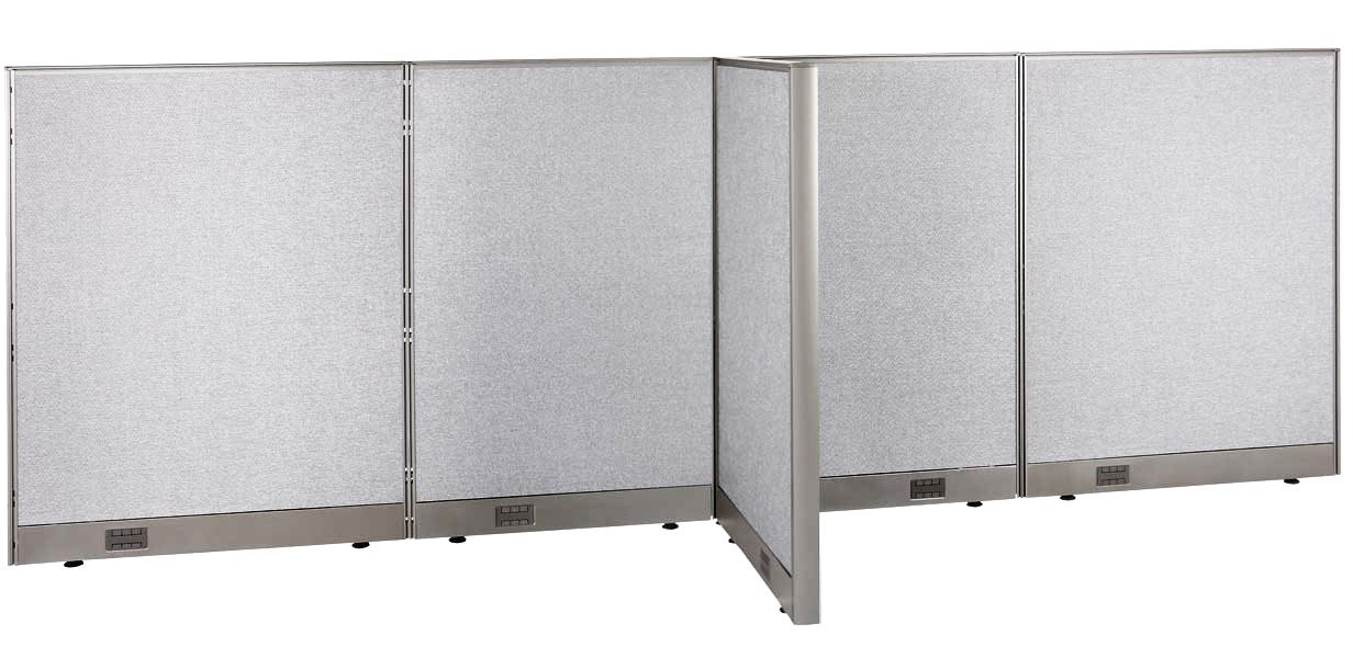 GOF T-Shaped Freestanding Partition 30d x 132w x 48h / Office, Room Divider (30d x 132w x 48h)