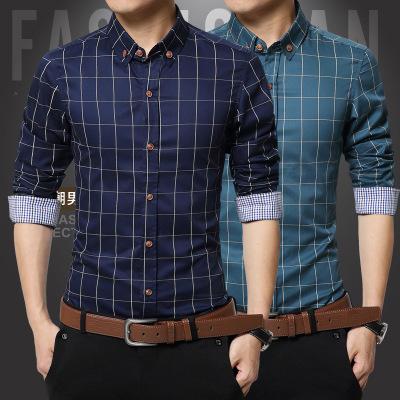 Ecowalson 2019 new fashion 100% cotton mandarin collar business men shirts