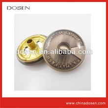 metal coat clasp,kurta button,fashion metal jean button for garment with brass