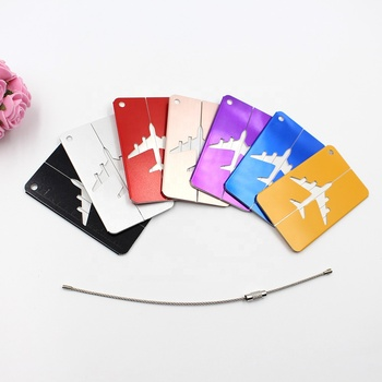 Promotional Aluminum Luggage Tag Plane Carnival Custom Luggage Tag