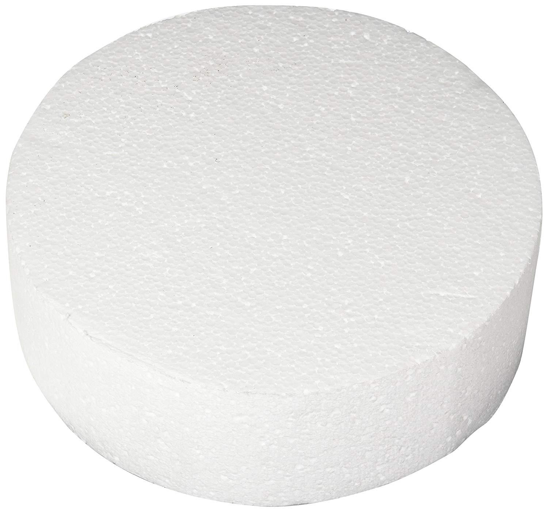 "Oasis Supply 747009 Dummy Round Cake, 9"" x 3"", White"