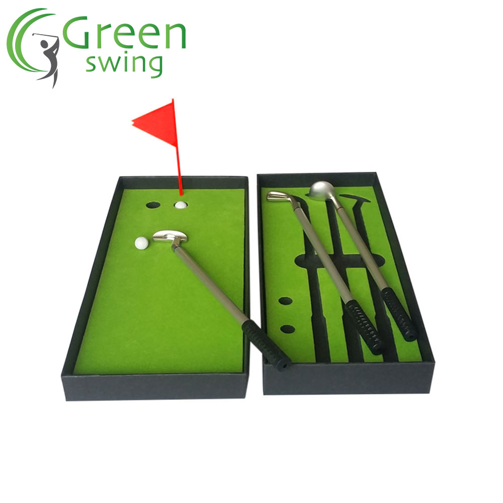 Mini golf portátil colocando PenSet Gift Golf Pen Set