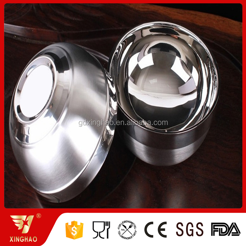 SS201 Factory Providing Stainless Steel Soup Bowl Food Serving Bowl