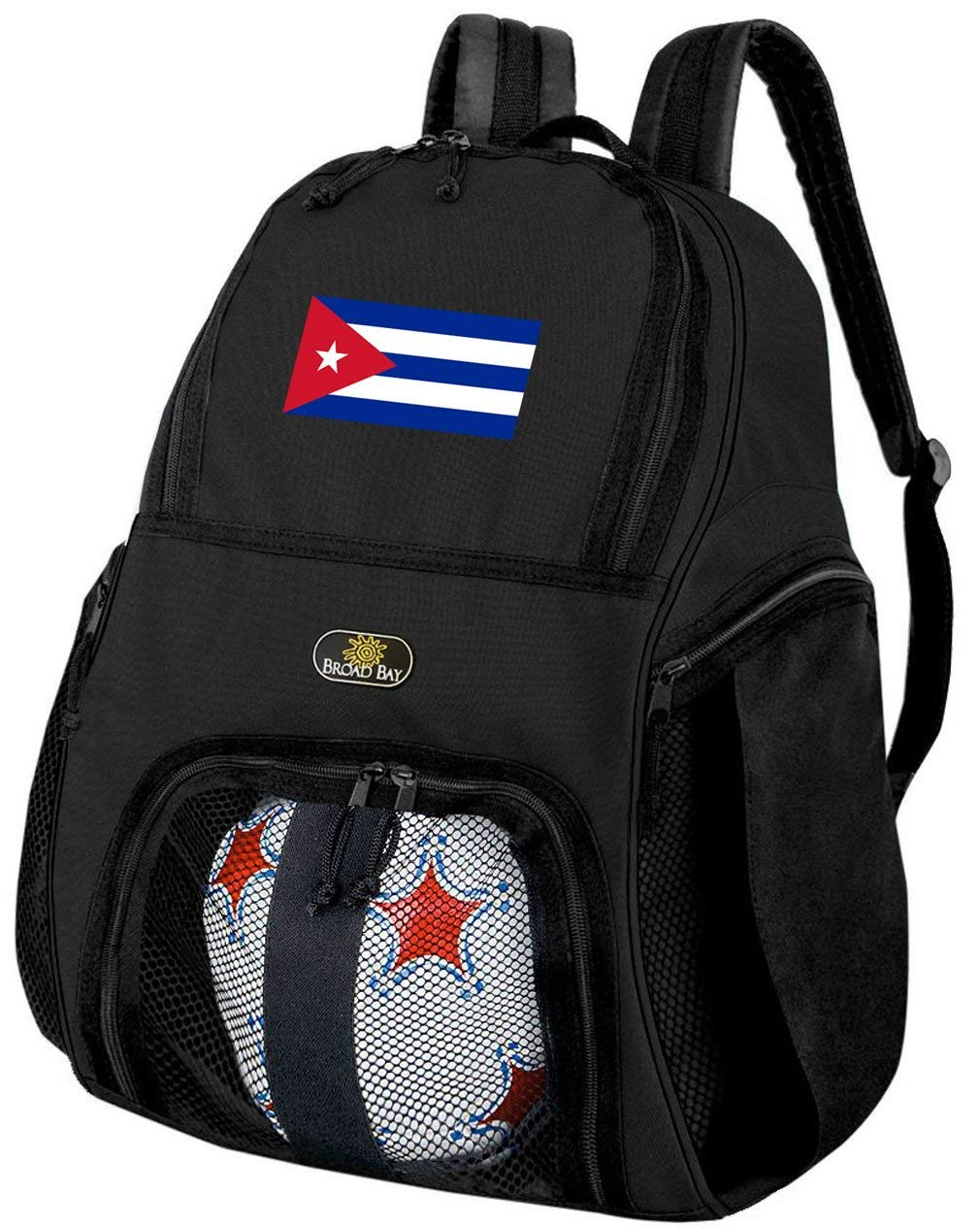 Broad Bay Cuba Soccer Backpack or Cuban Flag Volleyball Bag