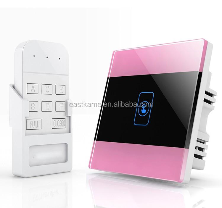 Pink 1gang Crystal Glass Panel 433mhz Wifi Smart Led Light