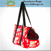 Floral Long Webbing Strap Handle Handbag Style Pet Carrier Cage Bag for Cats Puppies Dogs Small Animals for Ladys