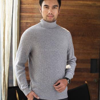 8f1177ac9c 16stc8038 Men Cable Knit Cashmere Turtleneck Sweater - Buy Cashmere ...