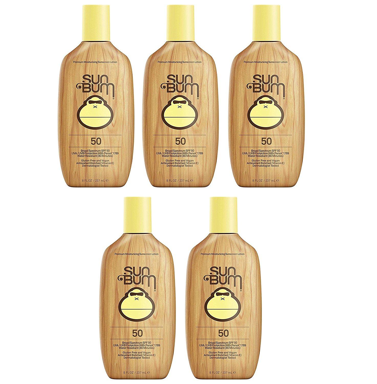 Sun Bum Moisturizing RvLgZ Sunscreen Lotion, SPF 50 (5 Pack)