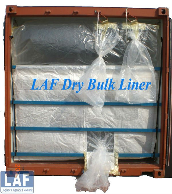 20ft food grade dry bulk container linner for fruit