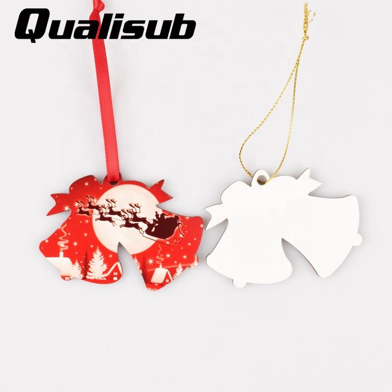 Qualisub Entrega Rápida Em Branco Sublimation MDF Personalizado Enfeites De Natal