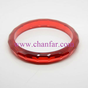 Trendy Red Color Resin Bracelet Bangles Hot Sale